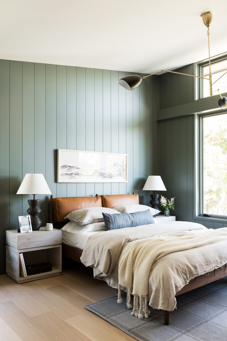 36 Inspiring Green Gray Interior Spaces - IMAGE: via Studio McGee, feat. paint color 'Nitty Gritty' from Portola Paints and Glazes.