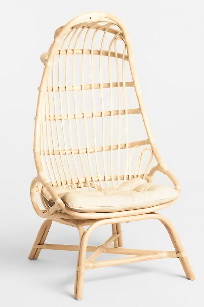 Natural Rattan Fallon Cocoon Chair - COST PLUS WORLD MARKET