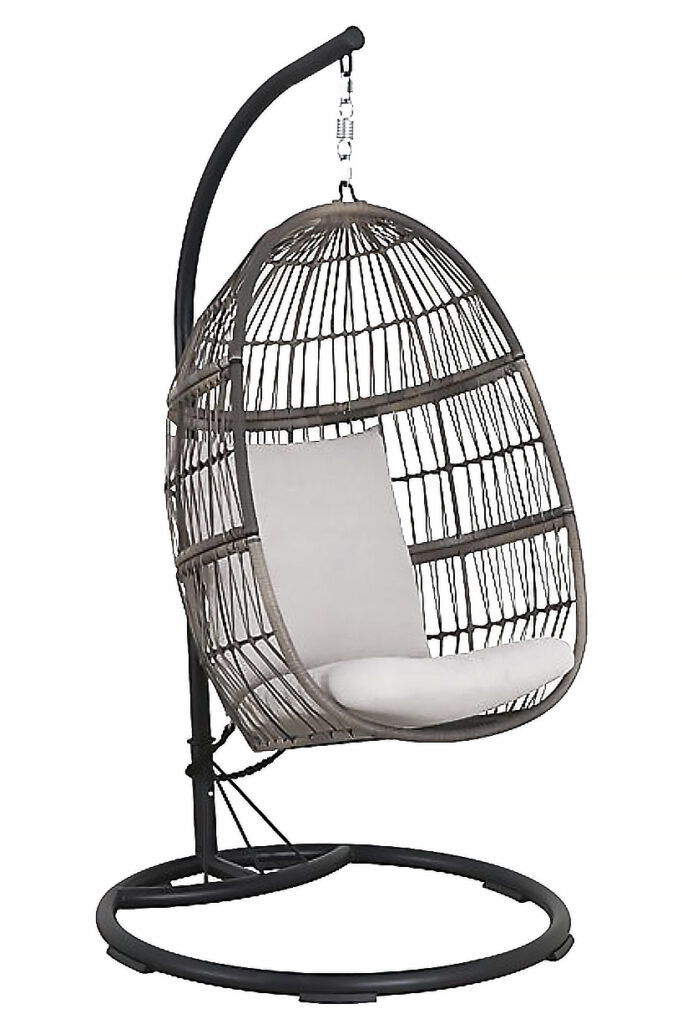 Patio Hanging Egg Chair – Oyster - BED BATH & BEYOND