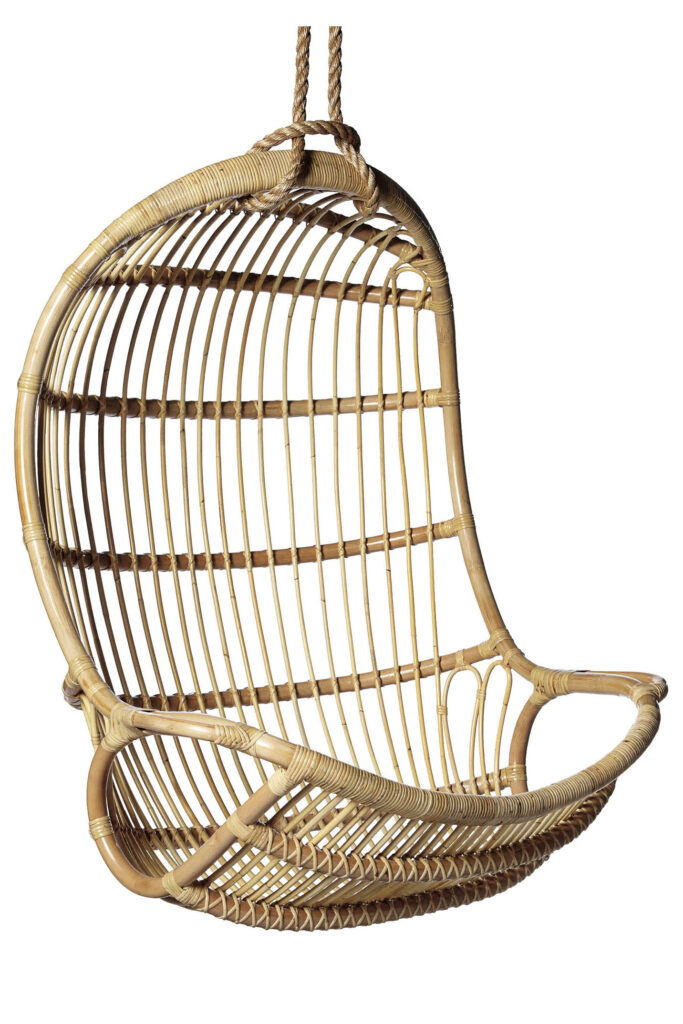 Hanging Rattan Chair - SERENA & LILY