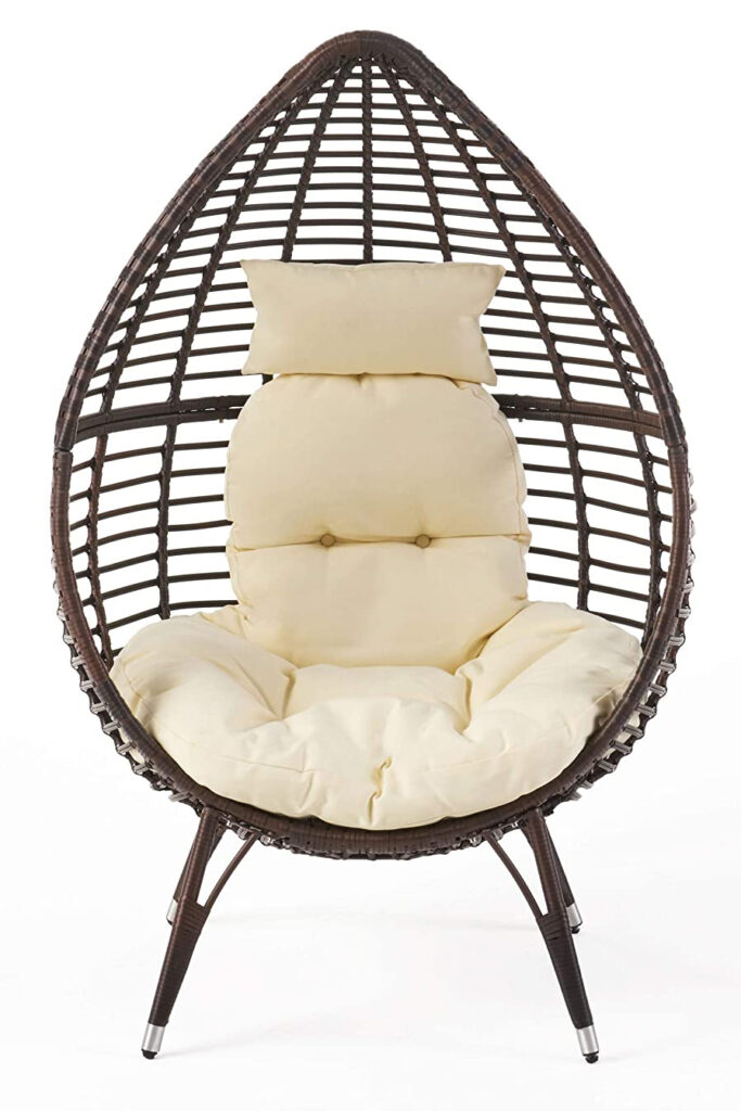 Teardrop Wicker Lounge Chair - AMAZON