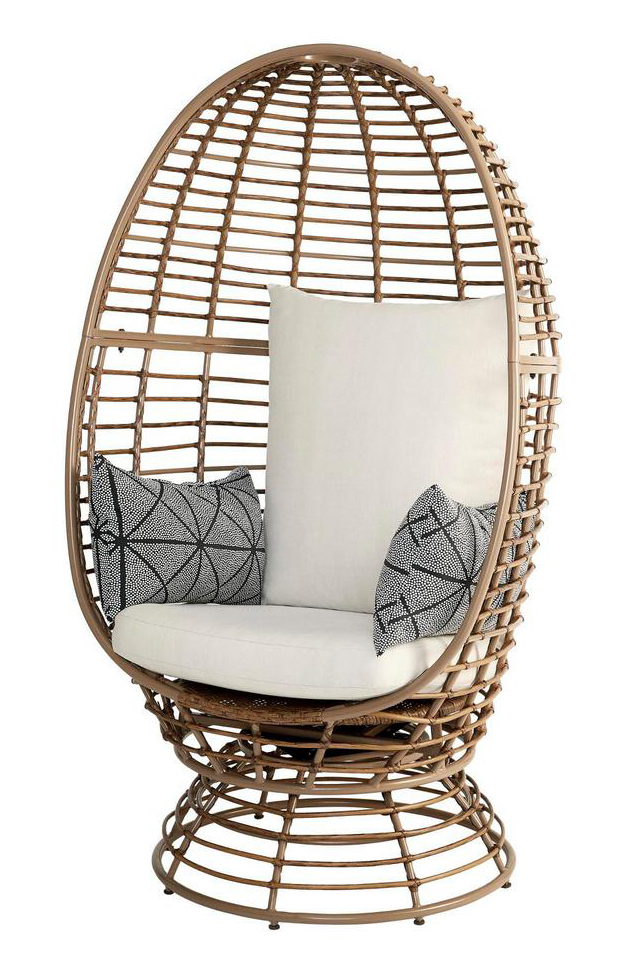 Wicker Swivel Patio Egg Chair - THE HOME DEPOT