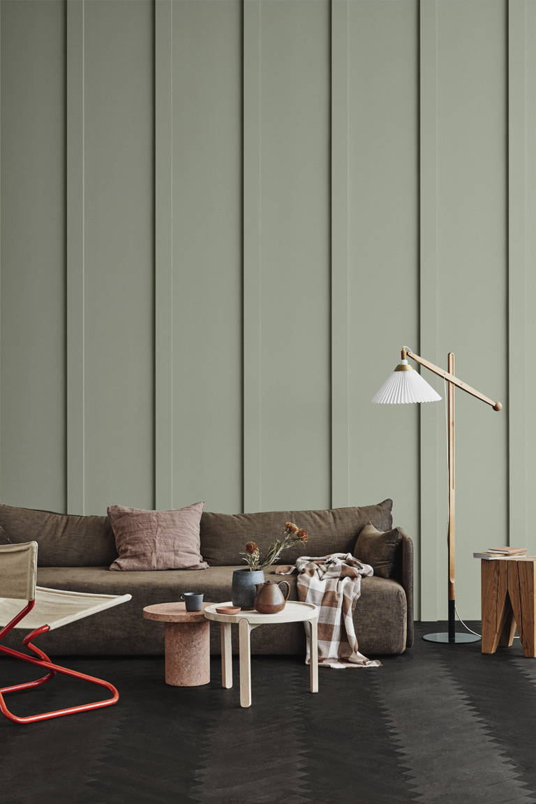 36 Inspiring Green Gray Interior Spaces - IMAGE: via Jotun Lady, feat. paint color '7628 Treasure' from Jotun Lady.