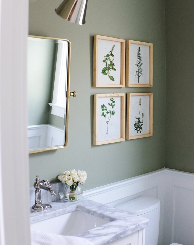 IMAGE: via @alainakaz on Instagram feat. paint color 'Lichen' from Farrow and Ball.