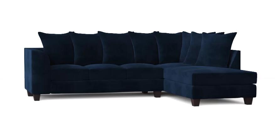 "Burwood 117"" Sofa & Chaise in Oakley Ink via Wayfair"