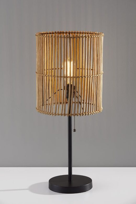 Rattan table lamp from All Modern.