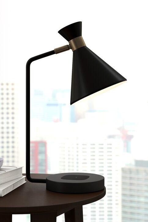 Miimal black desk lamp from All Modern.