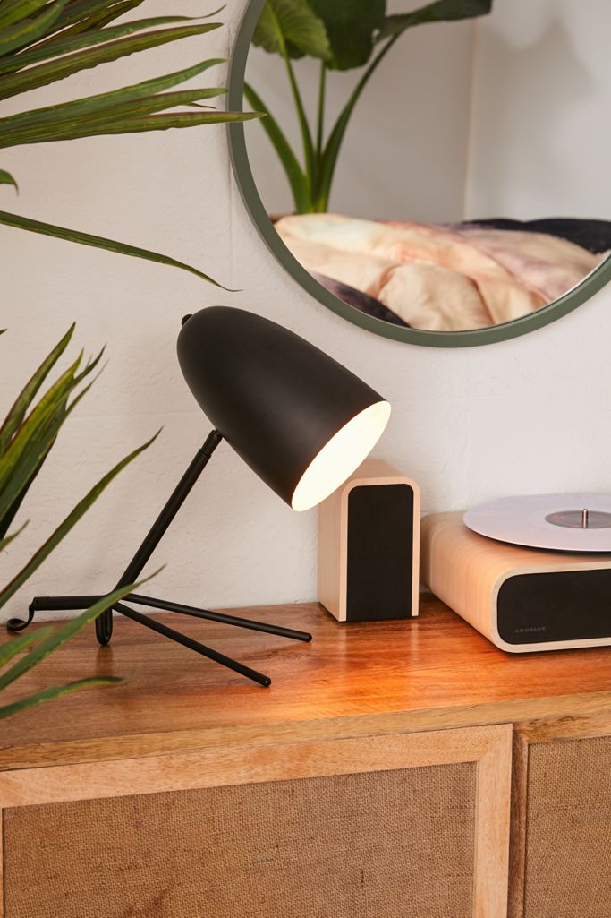 Simple modern black desk lamp from Urban Outfitters.