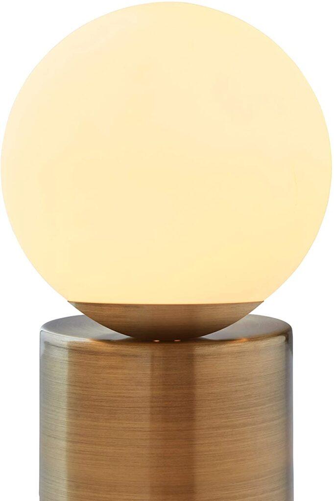 Modern globe glass lamp from Amazon.