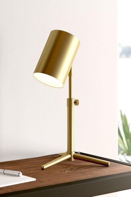 Brass Mid-Century Modern inspired desk lamp from All Modern.