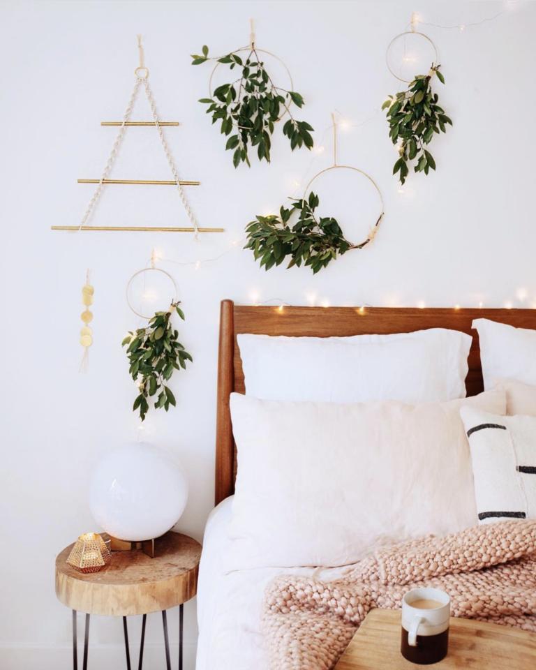 27 Stylish Boho Bedside Lamps and Lighting Options - IMAGE: via @genevavanderzeil on Instagram. #bohointerior #bohobedroom
