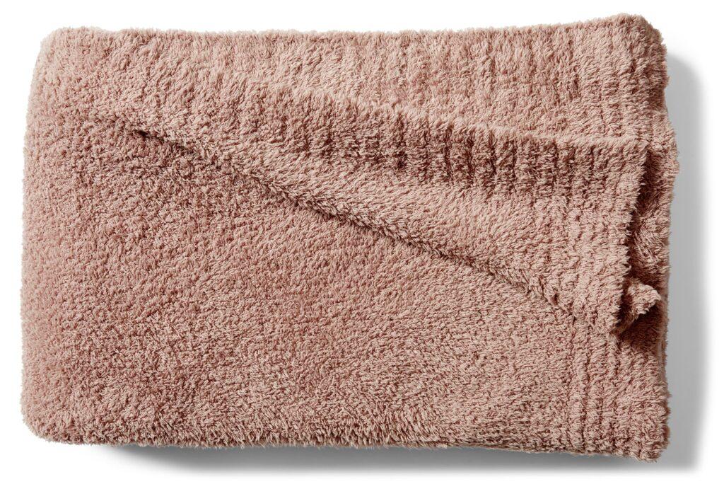 Dusty Pink Cozy Throw Blanket via Nordstrom.