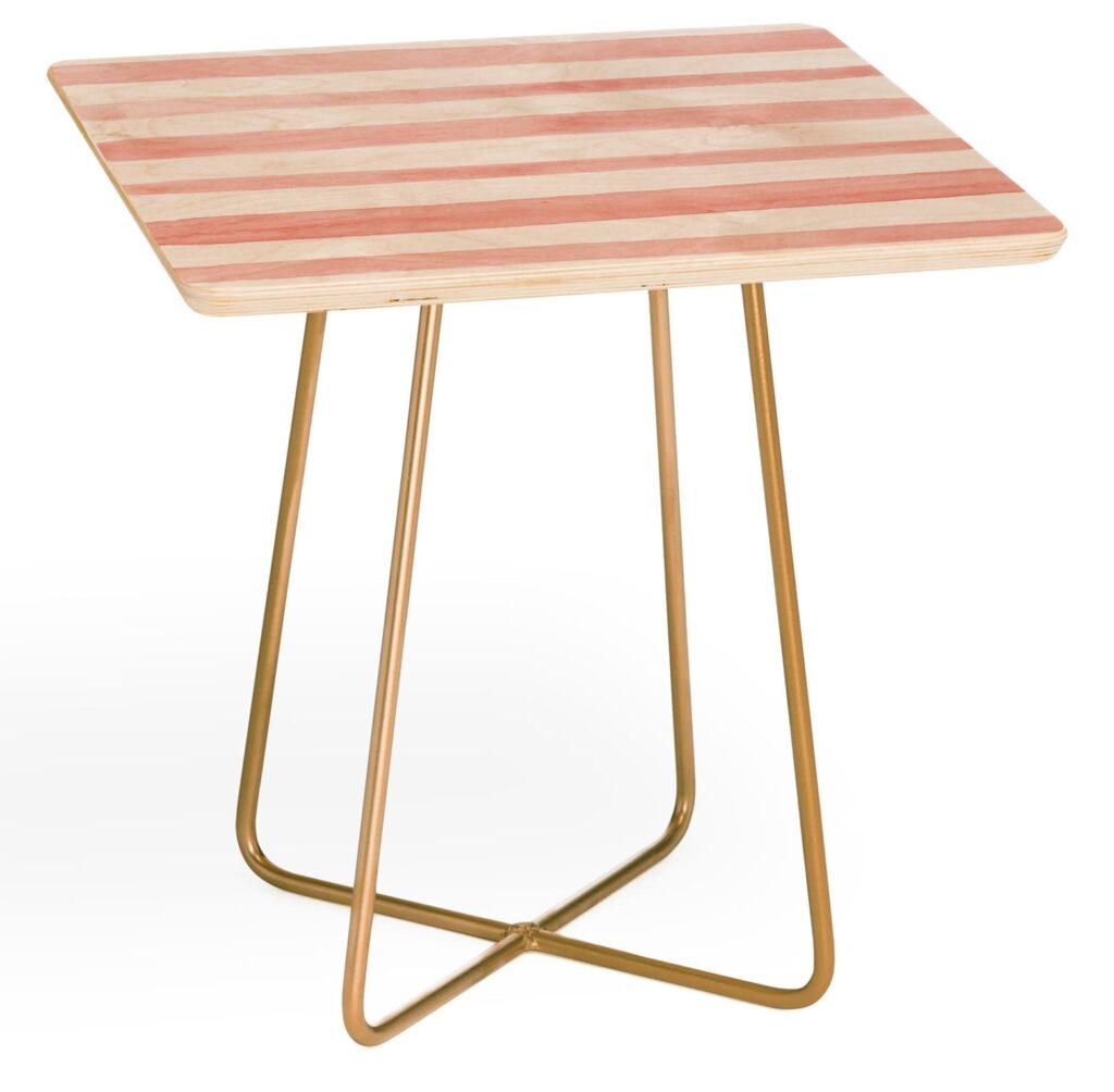 Pink Striped Side Table via Nordstom.