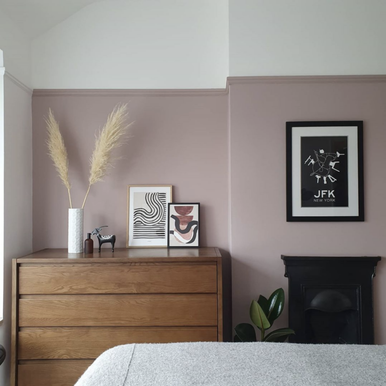 IMAGE via @theodores.house on Instagram, feat. paint color 'Light Peach Blossom' from Little Greene Paint Company.