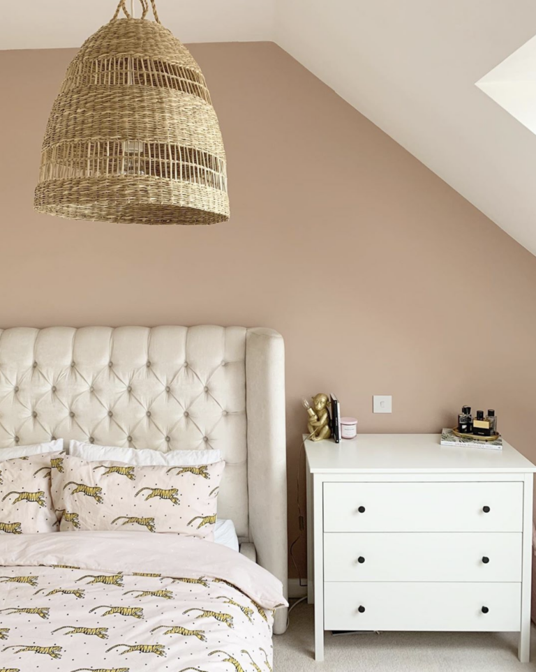 IMAGE: via @living_with_jade_ on Instagram, feat. paint color 'Pale Satin Peach' from Valspar Paint