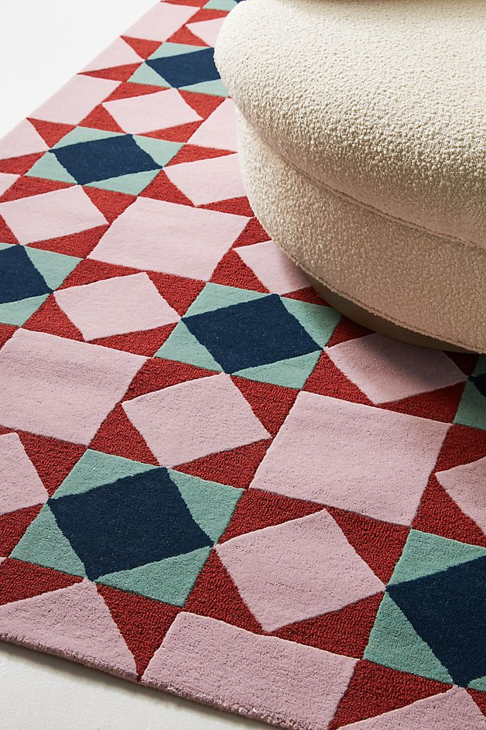 21 Stylish 8'x10' Mid-Century Modern Rugs feat. Hand-Tufted Jeanette Rug via Anthropologie