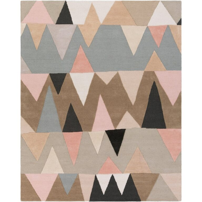 Carson Carrington Ackas Hand-Tufted Wool Rug – Grey/Pink via Overstock