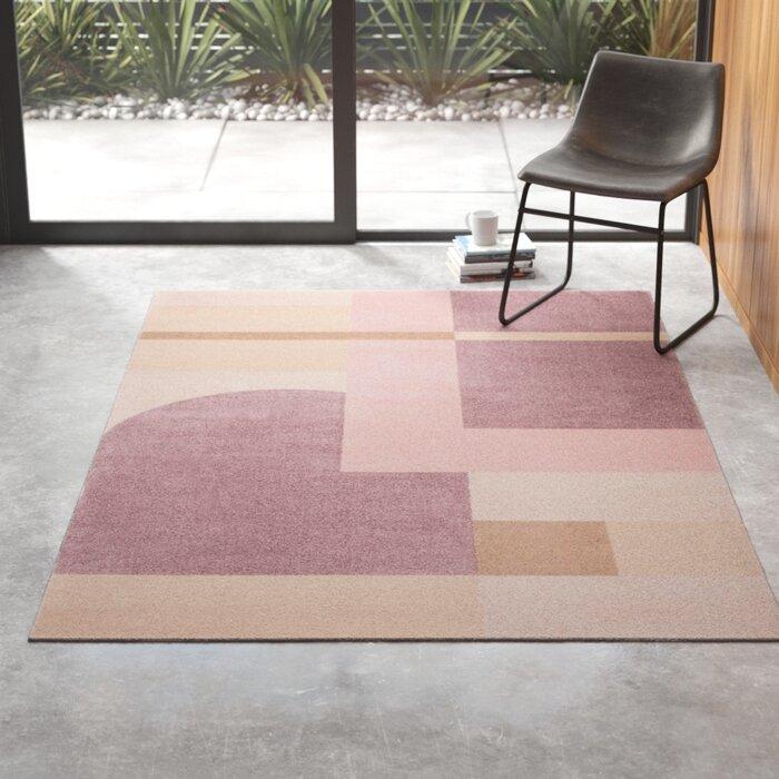 Ruthie Geometric Pink/Light Purple Area Rug via All Modern