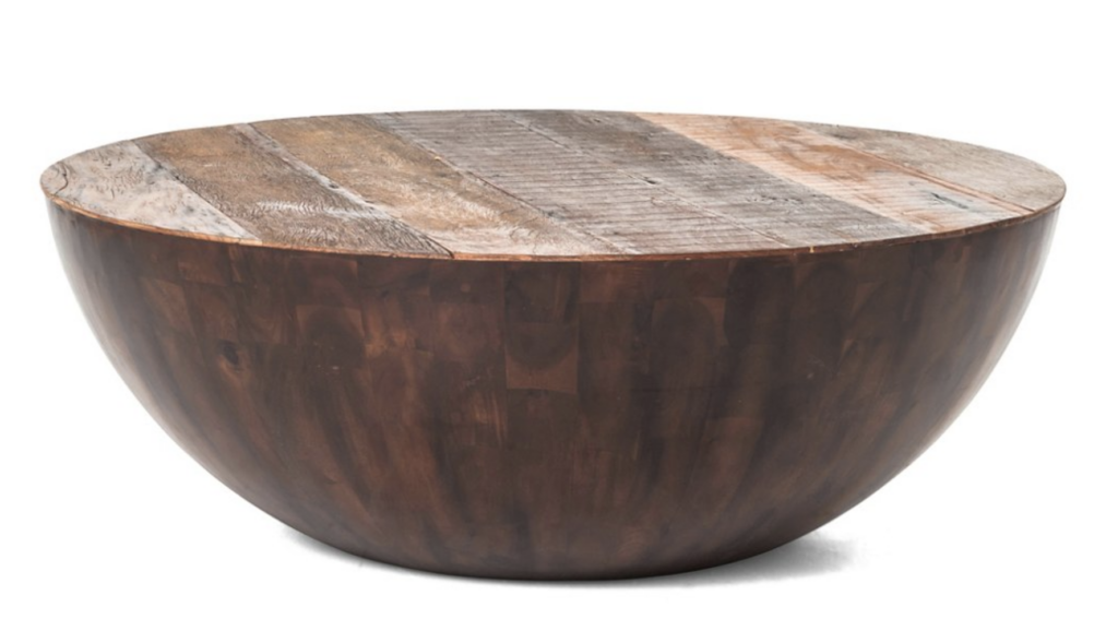 14 Beautiful Round Wooden Drum Coffee Table Options Pursuit Decor