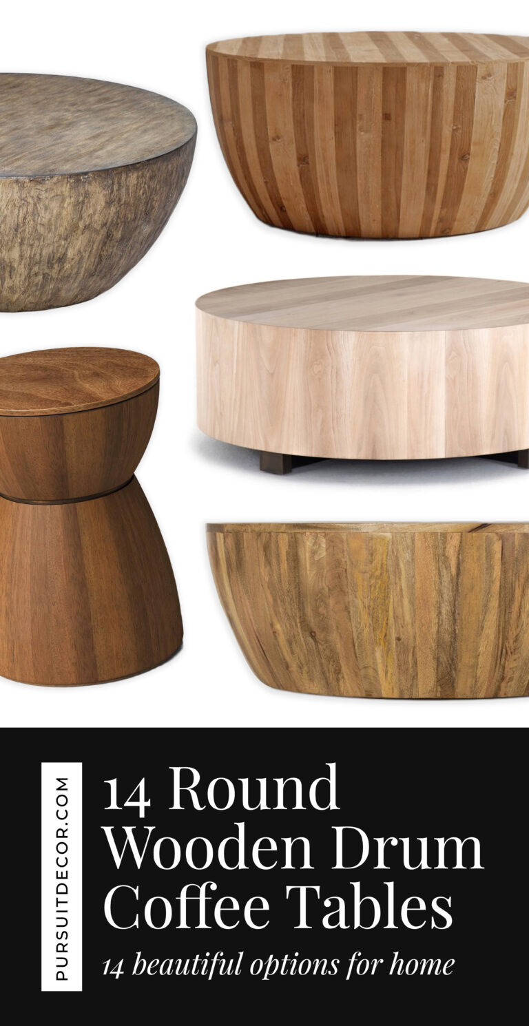 14 Beautiful Round Wooden Drum Coffee Table Options - Pursuit Decor