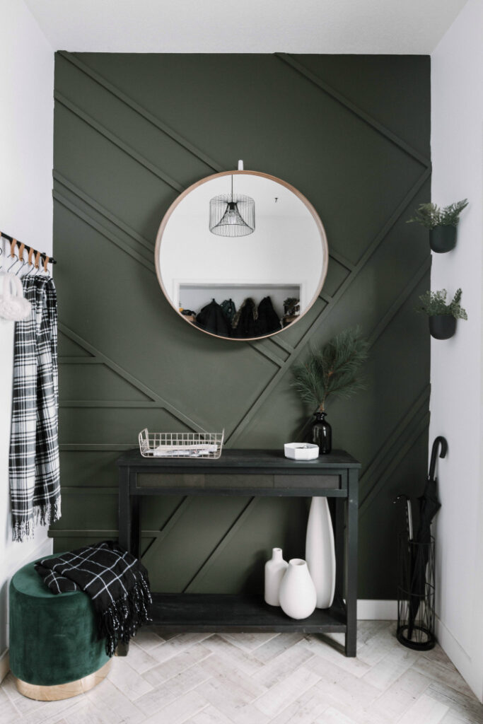 Image via Love Create Celebrate, Paint color: Black Bamboo by Behr