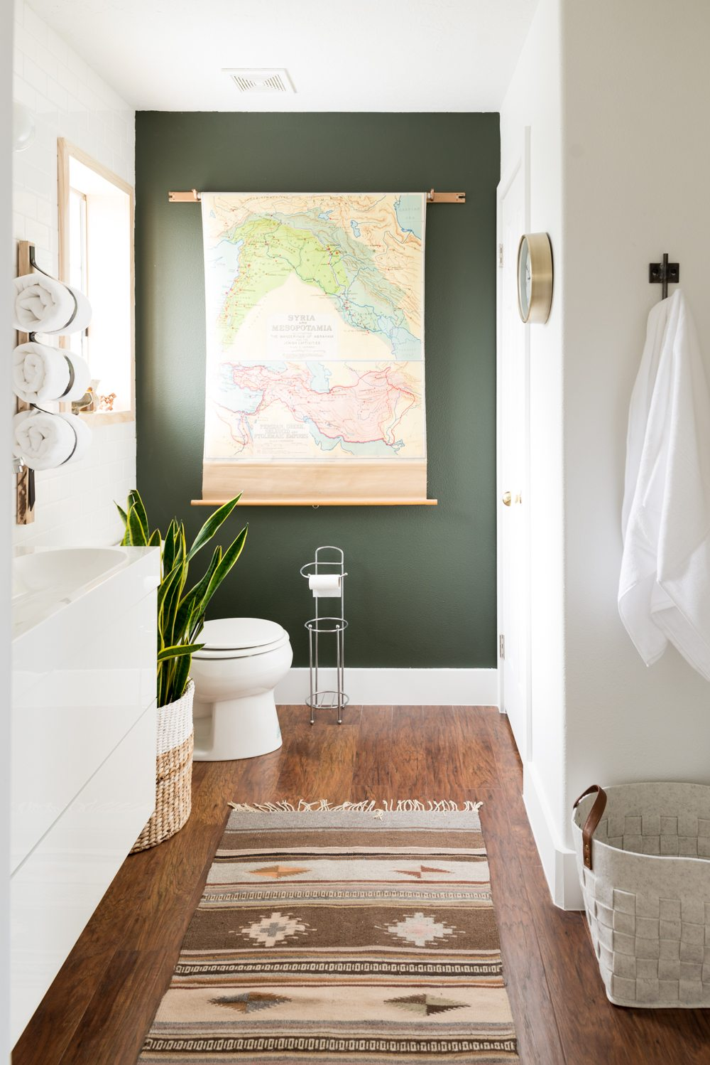 Image via Vintage Revivals, Paint color: Ripe Olive by Sherwin Williams