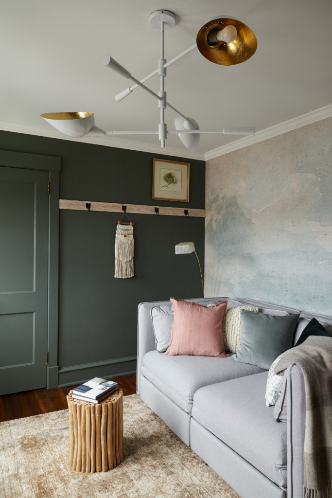 Dark Green Wall Paint Inspiration (with Swatches and Paint Names) - Image credit: Kyle Born via Vestige Home, Paint color: Rainy Afternoon by Benjamin Moore