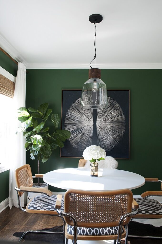 Image by Sarah Gibson via Room for Tuesday, Paint color: Evergreens by Sherwin Williams