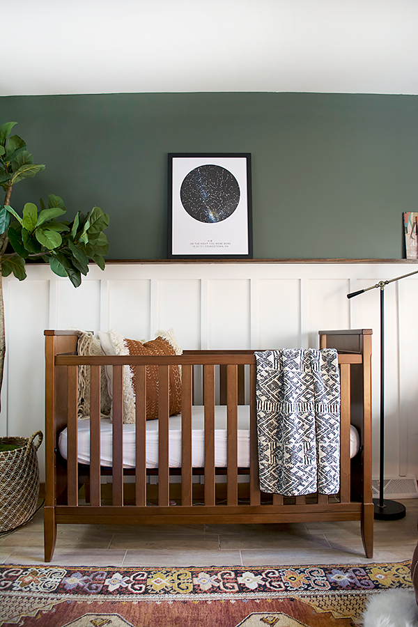 Dark Green Wall Paint Inspiration (with Swatches and Paint Names) - Image via Bre Purposed, Paint color: Woodland Lichen by Sherwin Williams