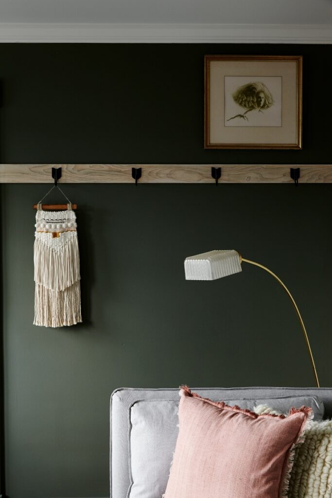 Image credit: Kyle Born via Vestige Home, Paint color: Rainy Afternoon by Benjamin Moore