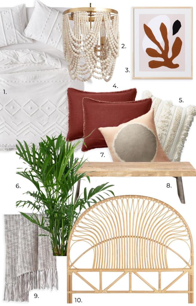 RE-CREATE THE LOOK: 3 White Minimalist Boho Bedrooms