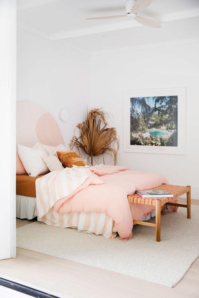 RE-CREATE THE LOOK: 3 White Minimalist Boho Bedrooms - Image via 3 Birds Renovations.