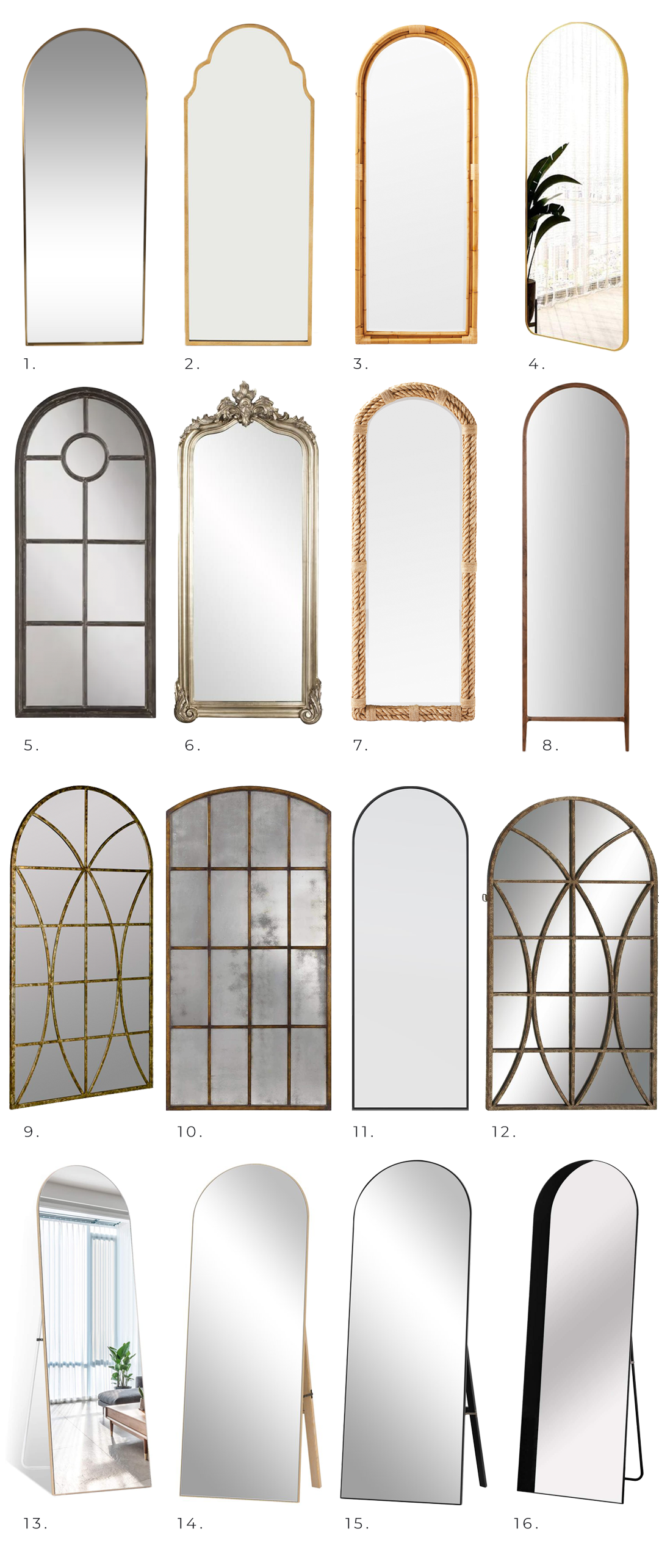 20+ Stylish Full Length Arched Mirror Options You'll Love - Pursuit Decor