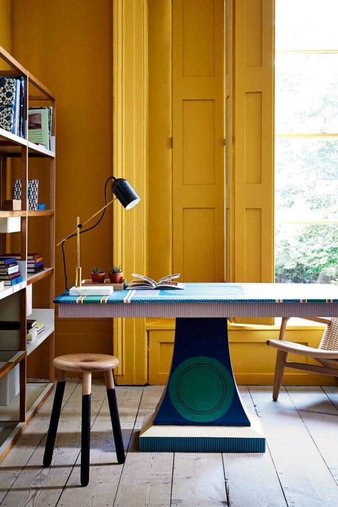 COLOR: 'O8D02′ from Little Greene, IMAGE: via House & Garden, by Rachel Whiting