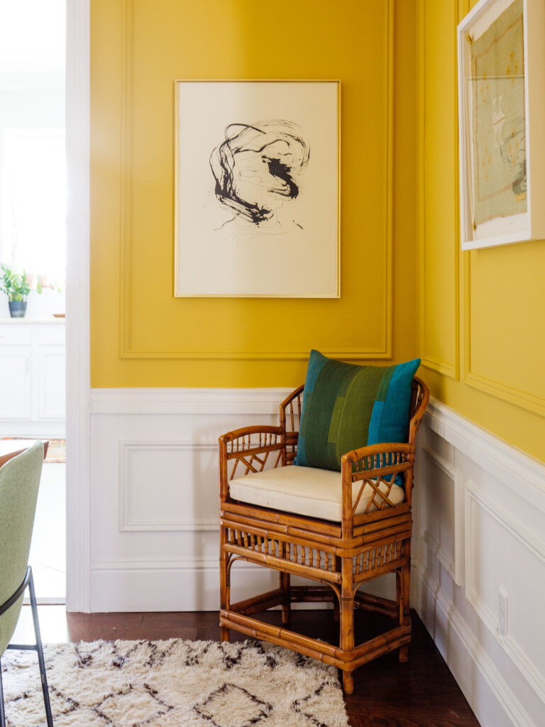 30+ Inspiring Yellow Wall Paint Combinations (With Color Names) - feat. 'Babouche' from Farrow & Ball, IMAGE: via Old Brand New