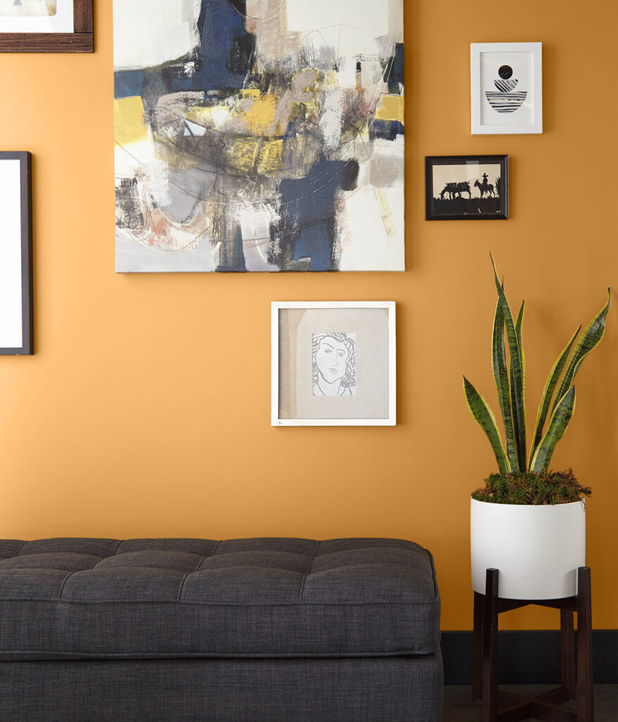 30+ Inspiring Yellow Wall Paint Combinations (With Color Names) feat. COLOR: 'Saffron Strands PPU6-02' from Behr Paint, IMAGE: via Behr