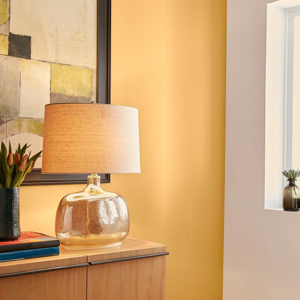 30+ Inspiring Yellow Wall Paint Combinations (With Color Names) - feat. 'Charismatic PPU6-14' from Behr Paint, IMAGE: via Behr