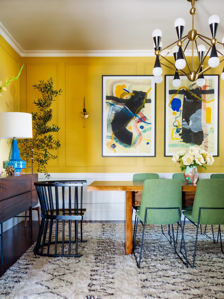 Yellow Dining Room, COLOR: 'Babouche' from Farrow & Ball, IMAGE: via Old Brand New