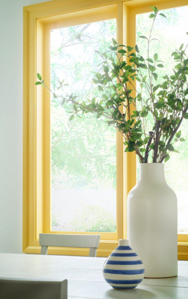 Yellow dining room, COLOR: 'Lemon Burst T17-20' from Behr Paint, IMAGE: via Behr