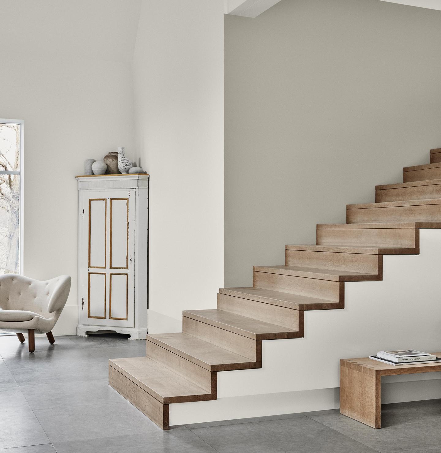 'Comfort Grey' from Jotun (Stairway Wall), IMAGE CREDIT: Jotun
