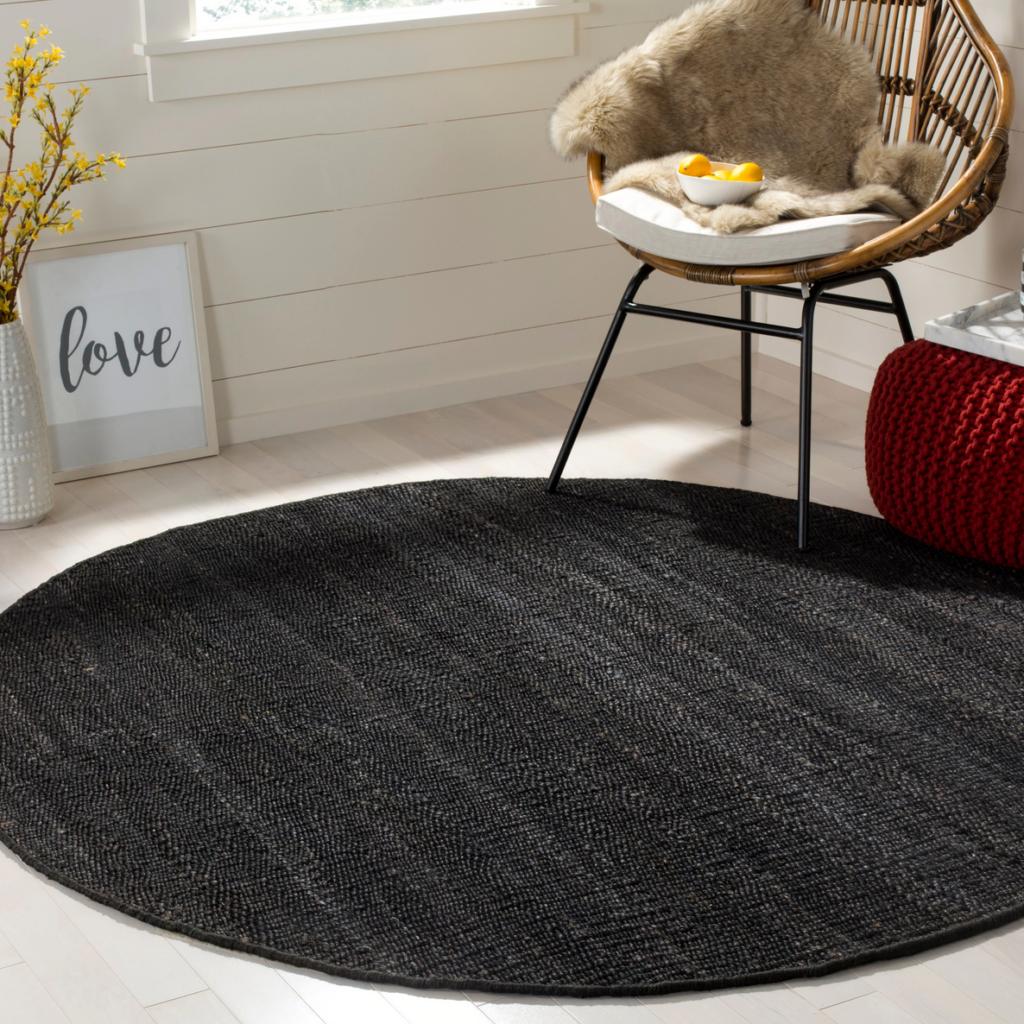 'Leteke' Handmade Natural Jute Rug – Overstock, round black jute rugs