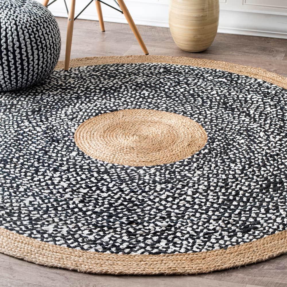 Jute And Cotton Token Area Rug – Overstock