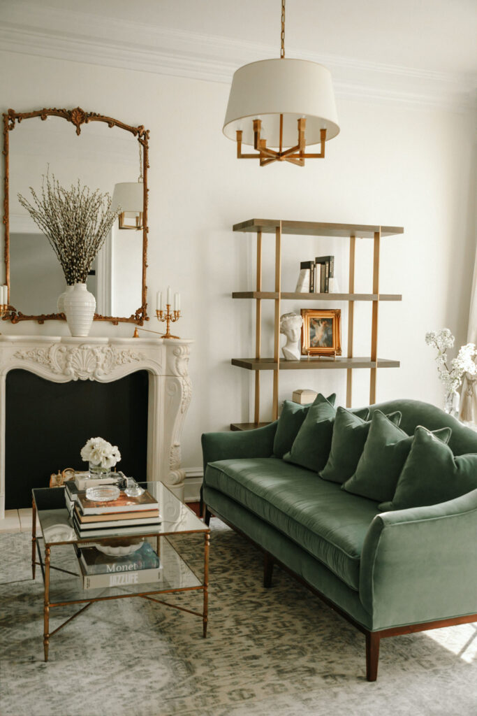 14+ Beautiful Sage Green Velvet Sofa Options - IMAGE via Margo and Me