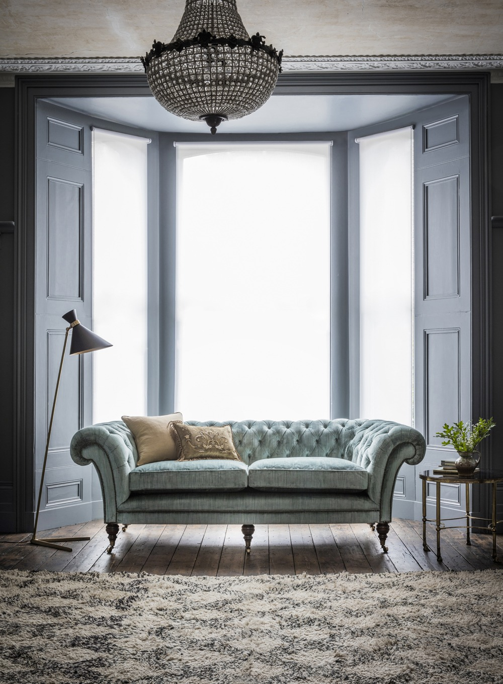 IMAGE via Beaumont & Fletcher, feat. 'Grenville' Sofa in Teal