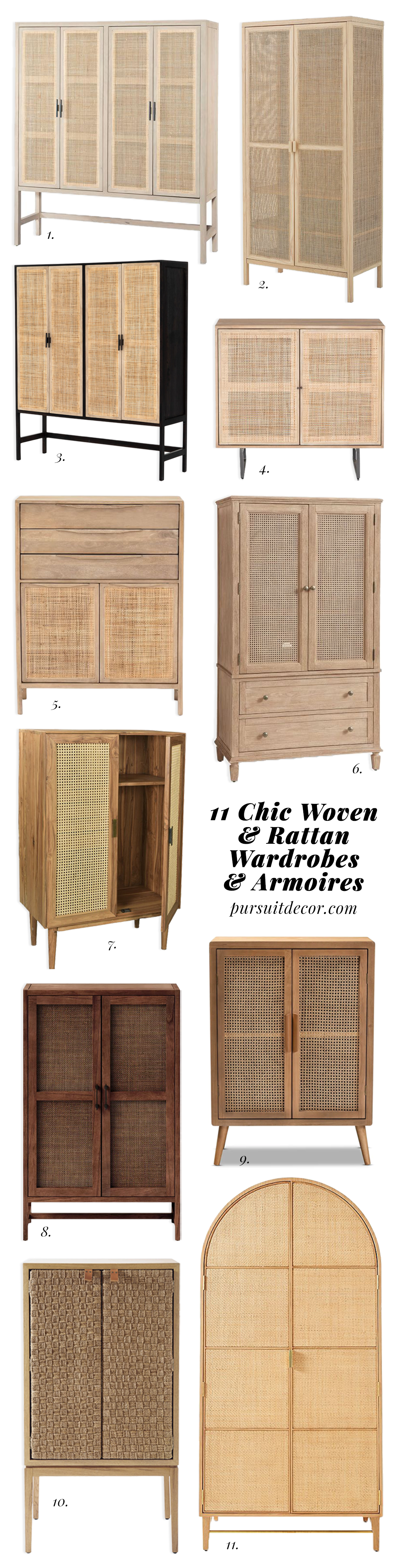 ROUND-UP: 11 Chic Woven and Rattan Wardrobes and Armoires - Pursuit Decor