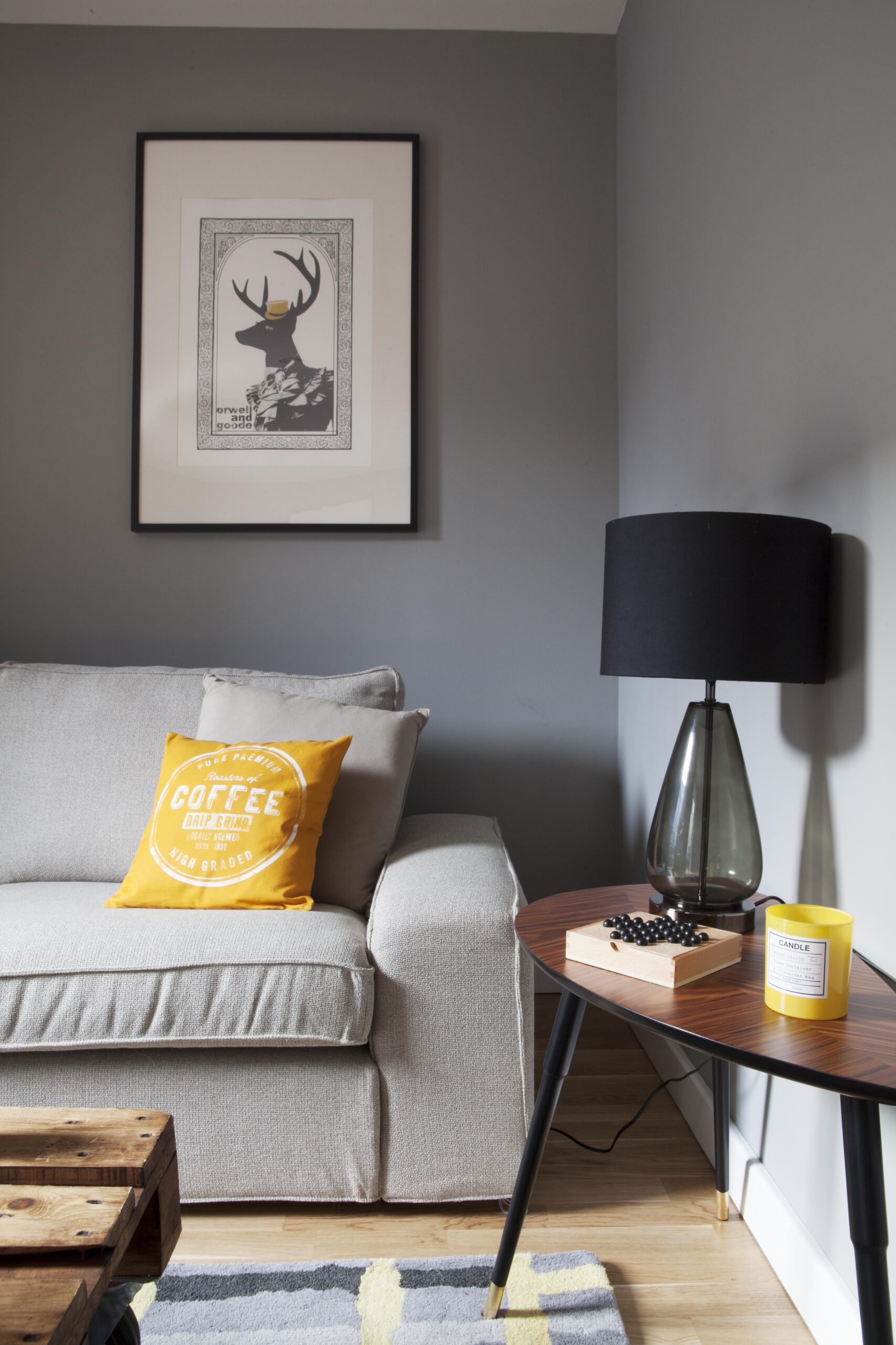 Decorating with Pantone Color of the Year 2021 - 'Illuminating' and 'Ultimate Gray' -  IMAGE: via Studio Morton