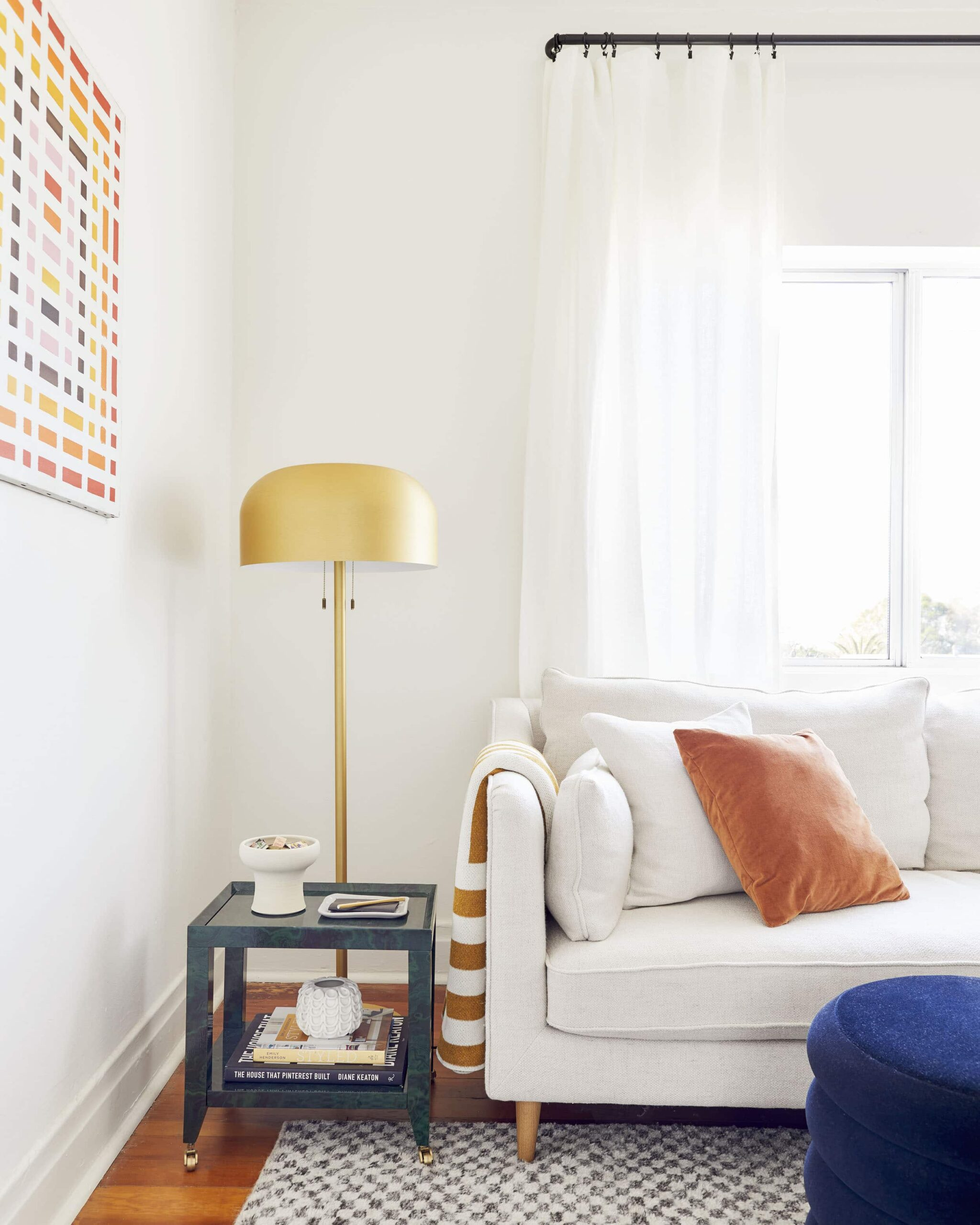 Best Warm White Paint Colors - Farrow and Ball - IMAGE: photo by Sara Ligorria-Tramp for EHD via Emily Henderson feat. paint color 'Pointing' from Farrow and Ball