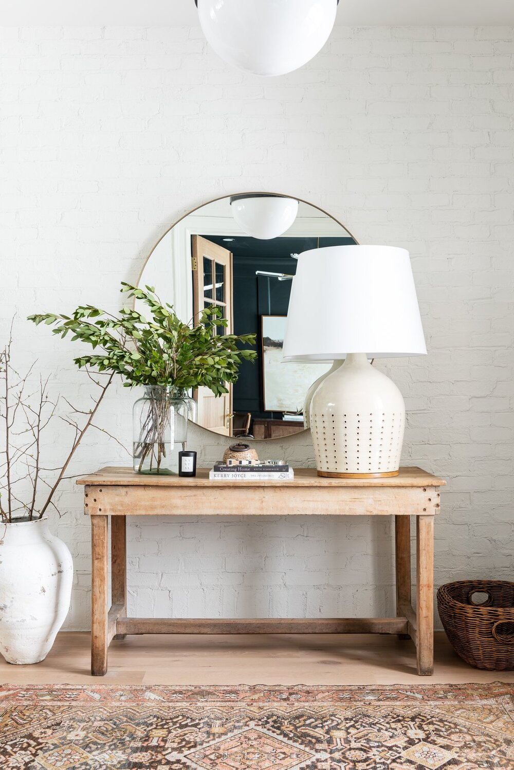 Best Warm White Paint Colors - Benjamin Moore - IMAGE: via Studio McGee feat. paint color 'Swiss Coffee @ 75% Strength' from Benjamin Moore