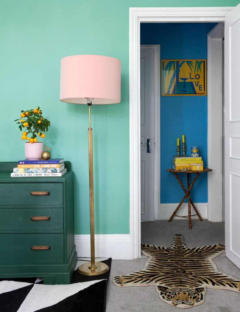 IMAGE: via Farrow and Ball feat. paint color 'Arsenic' from Farrow and Ball