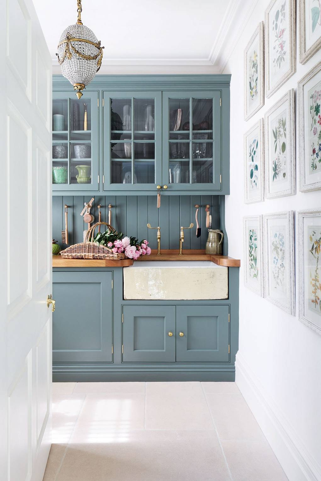 IMAGE: via House and Garden feat. paint color 'Card Room Green' from Farrow and Ball